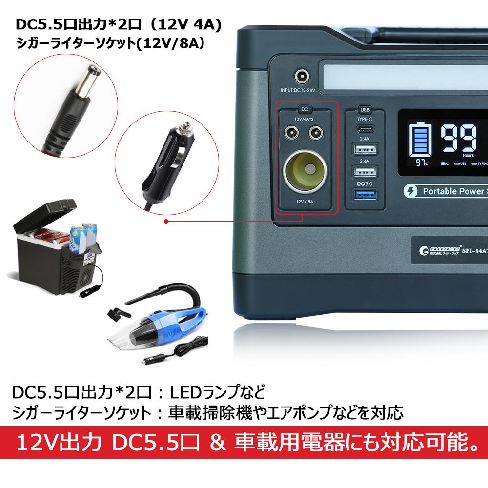 LCDディスプレイに電量残量と使用電力を表示可能 使用感が楽!