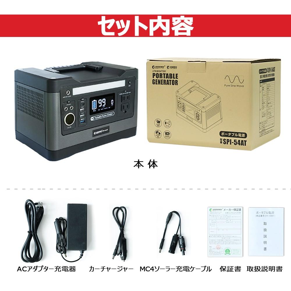 ポータブル電源SPI-54ATのセット内容