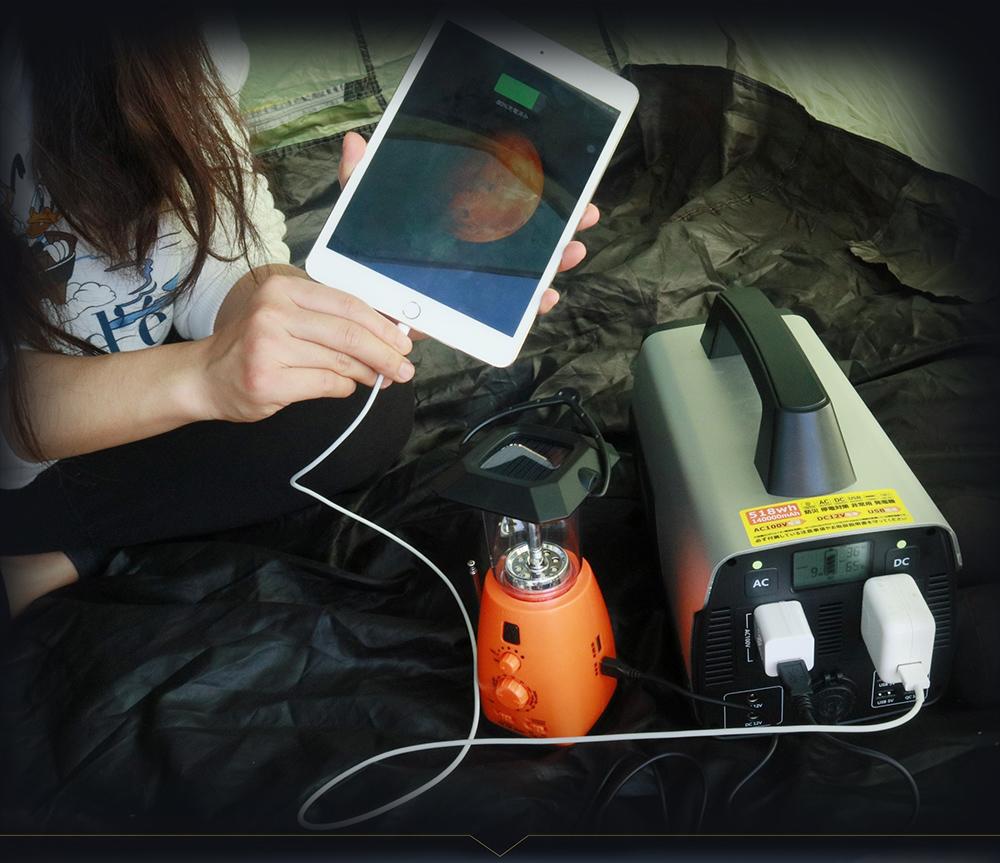 ポータブル電源 大容量 リチウムイオン蓄電池