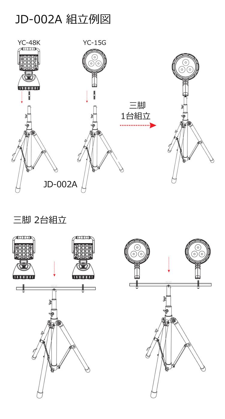 取付用金具 LED投光器用 全ネジボルト 寸切りボルト M8