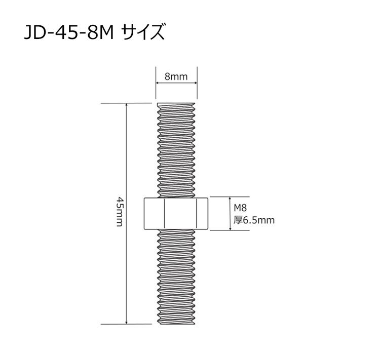 全ネジ 長ねじボルト 全ネジボルト ナット付き M8