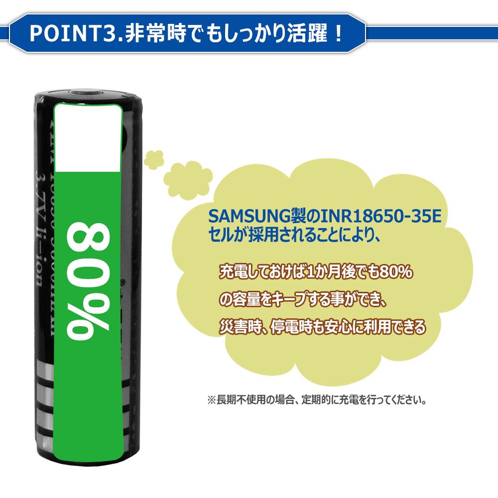 弊社製の18650電池VS他社製の偽物