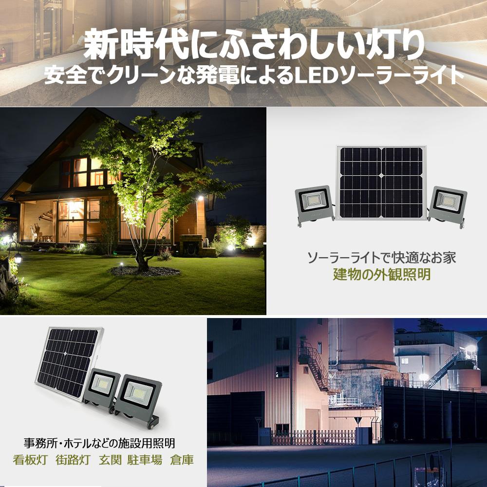 実用新案登録 LEDソーラーライト ソーラー投光器 玄関の常備灯 車庫の常夜灯 カーポート 庭園のアップライト 街路灯 停電対策 防犯 防犯ライト