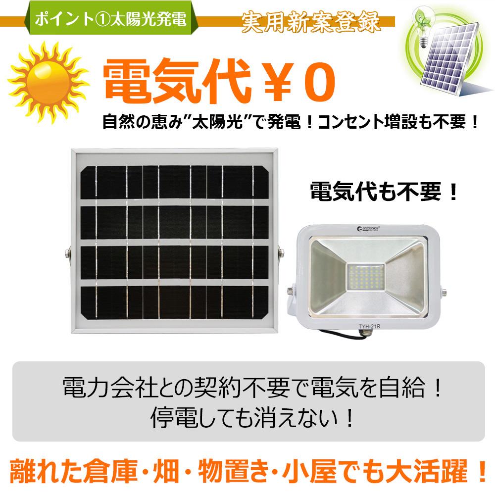 実用新案登録 LEDガーデンライト 25W 2500LM 太陽光発電 電池交換式 防犯灯 夜間照明 防水
