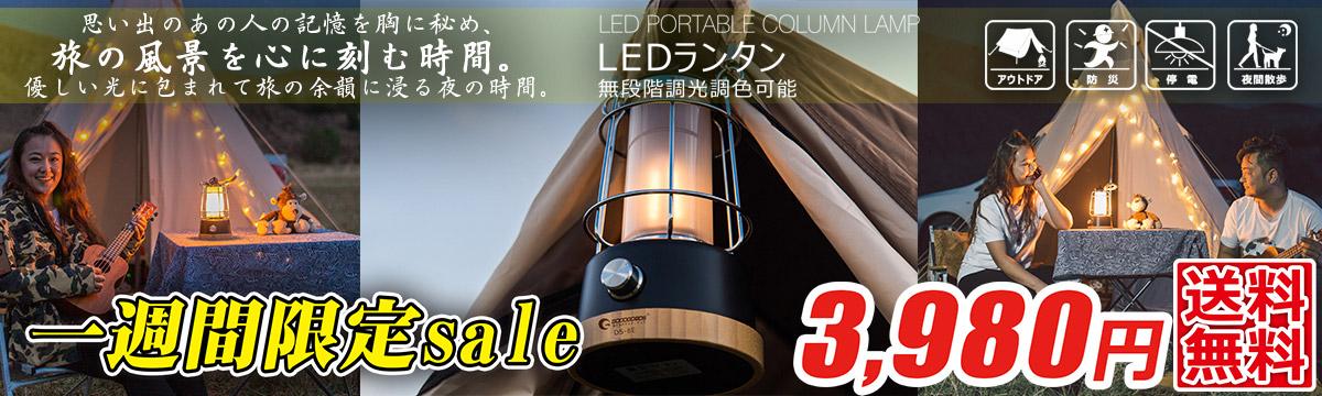LEDランタン 乾電池&充電池兼用 無段階調光調色 防災グッズ