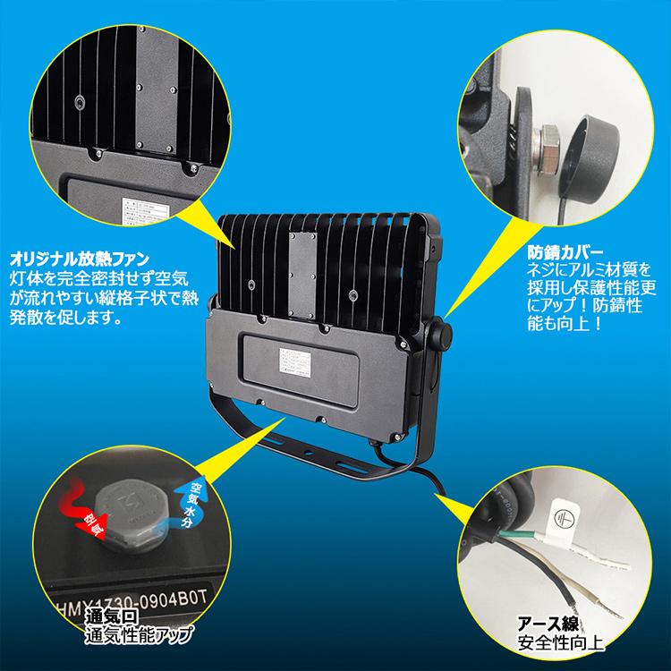 送料無料 LED投光器 屋外 防水 避雷器 野外灯