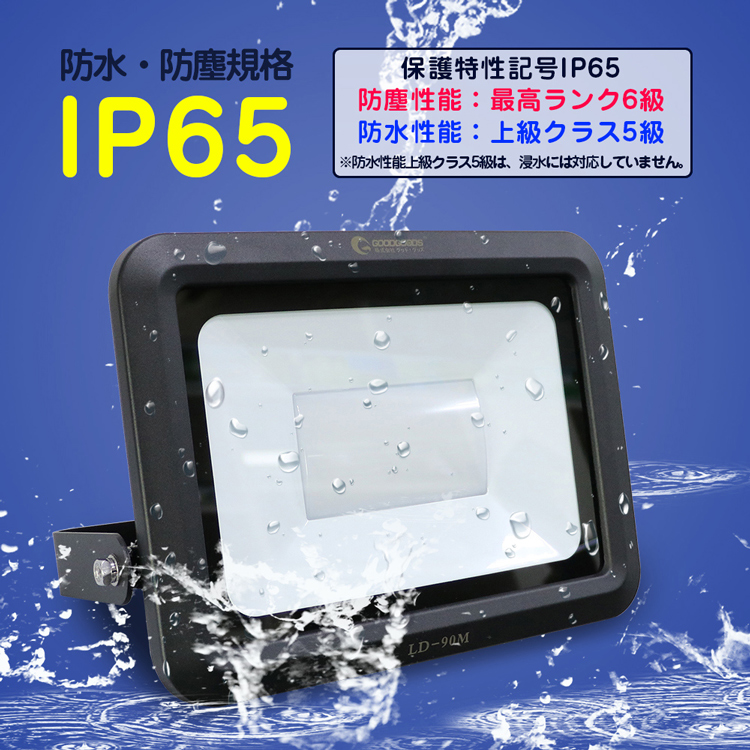 IP65の防水等級、屋内外兼用です、完全防水仕様ではありません。注意ください