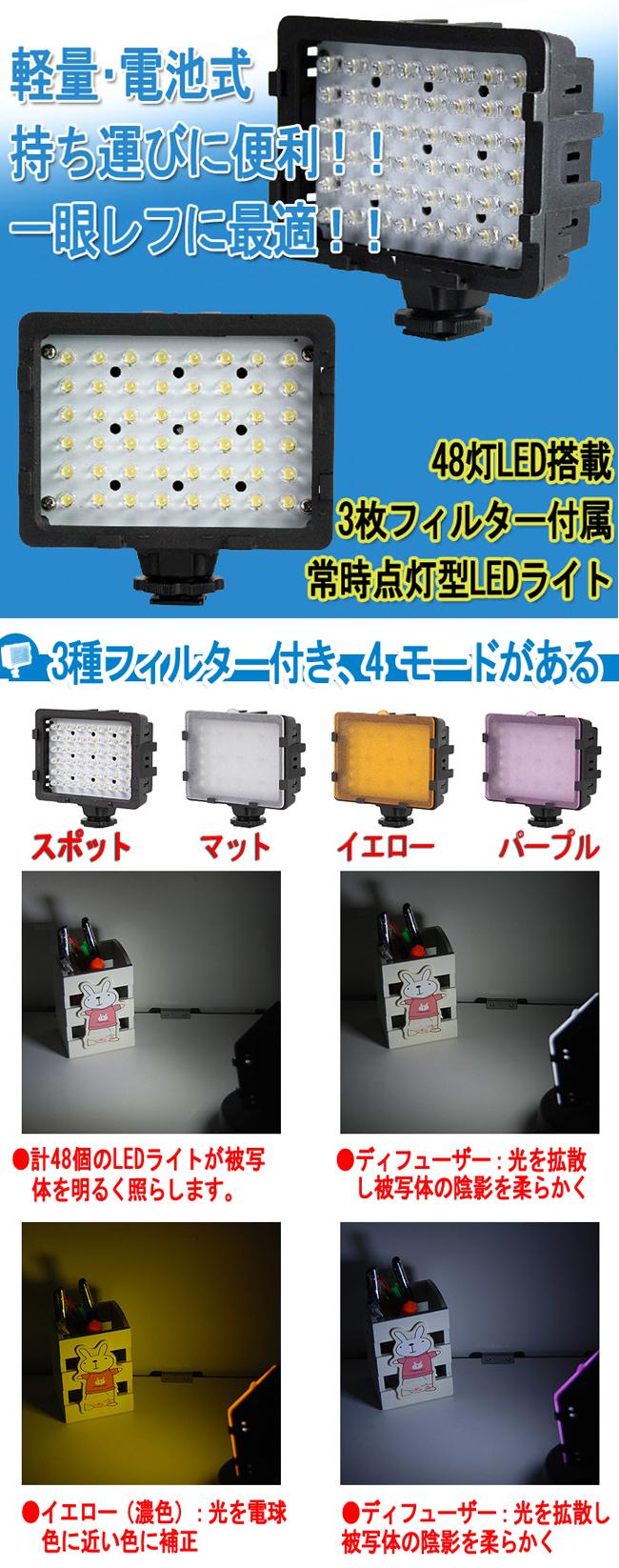 軽量・電池式 48灯LED搭載