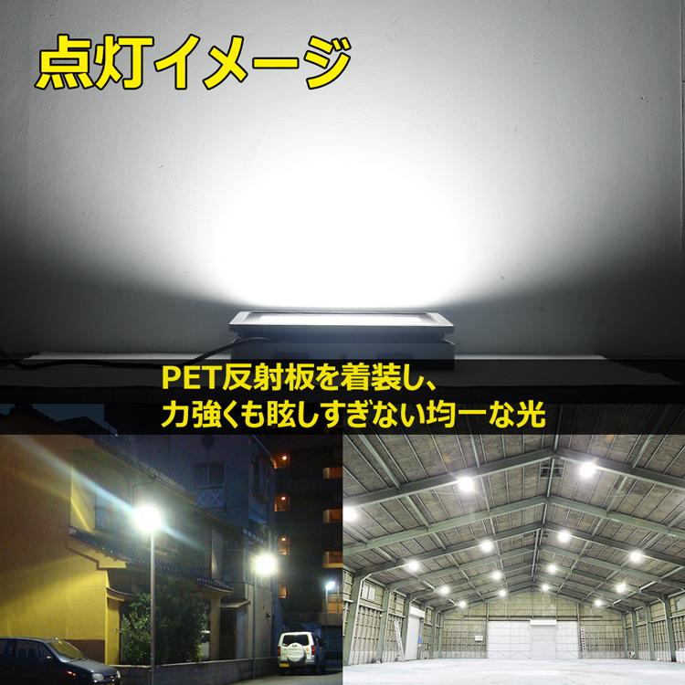 超爆光 led投光器 最新型 200wled投光器 高輝度 薄型 コンパクト PET反射板