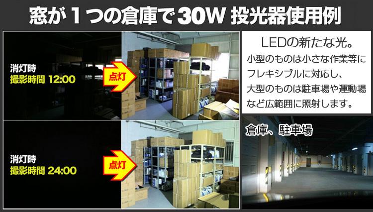 最新・薄型 LED投光器 30W 300W相当 広角 防水 LED作業灯