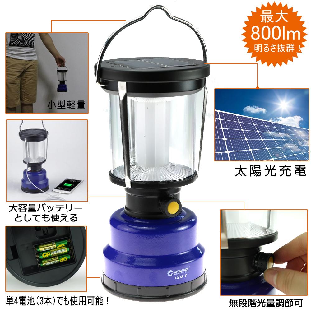 ソーラーパネル LEDチップ アウトドア キャンプ 充電式懐中電灯 非常用ライト
