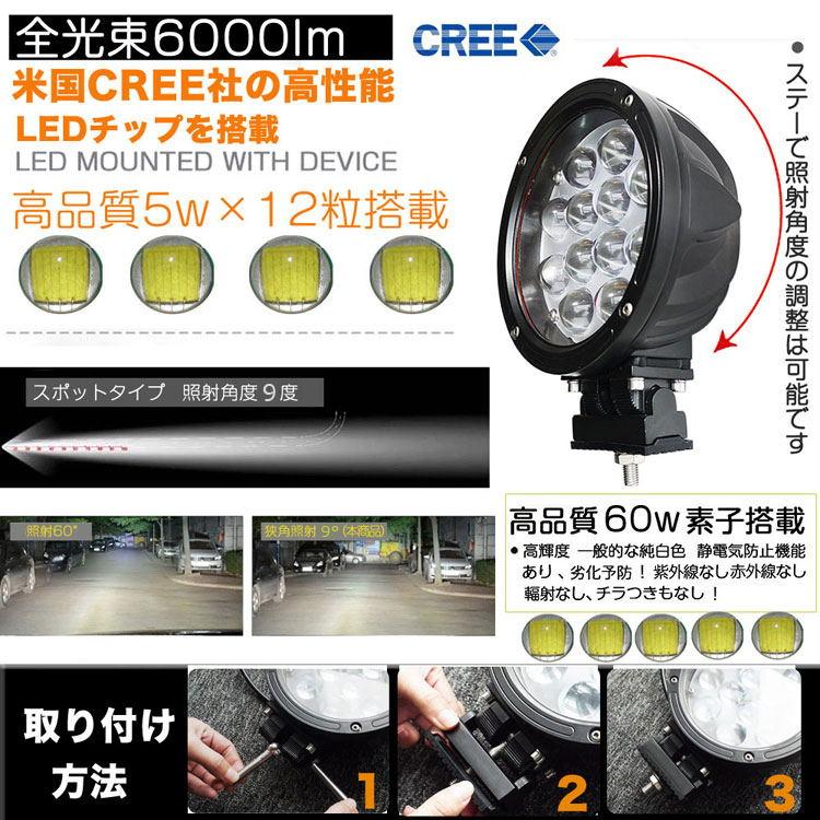 LED作業灯 60W 600W相当 DC12/24V兼用